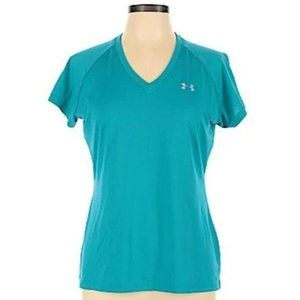 Under Armour Fitted Heat Gear Shirt Blue Small